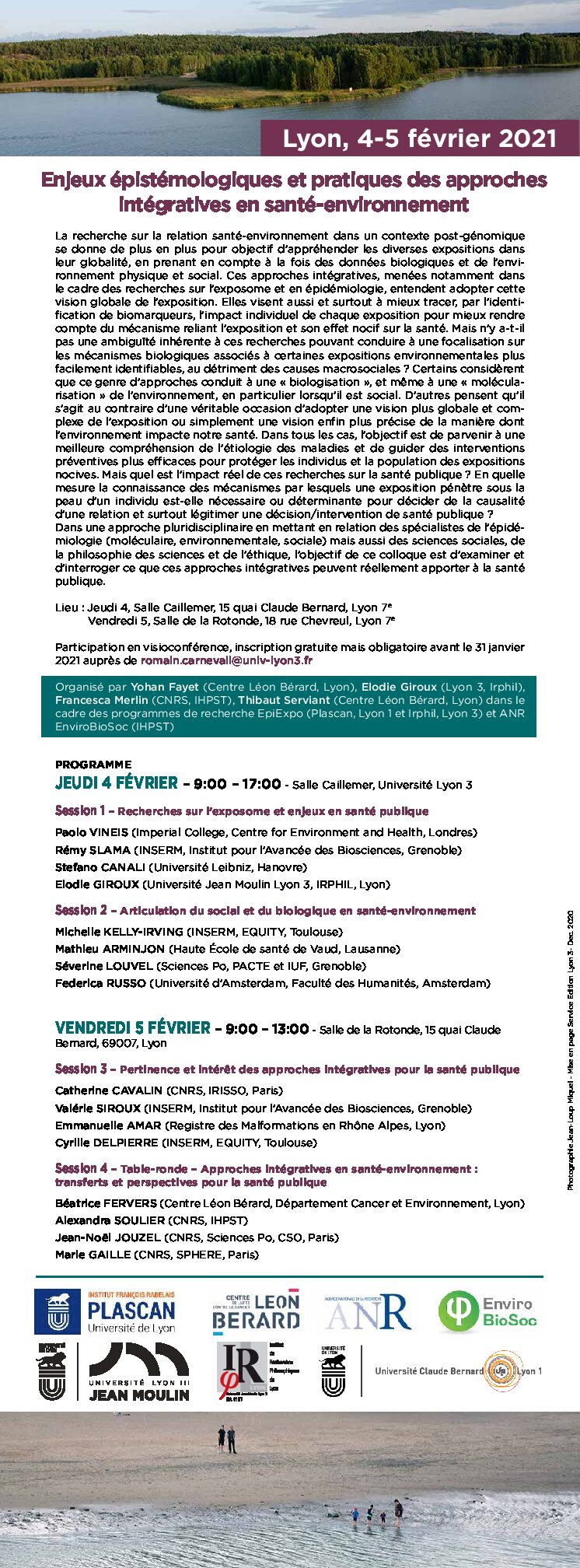 "Meeting ""Epistemological and practical issues of integrative approaches in environmental health""  – Lyon February 4-5,  2021"